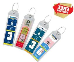 luggage secure tag holder zip