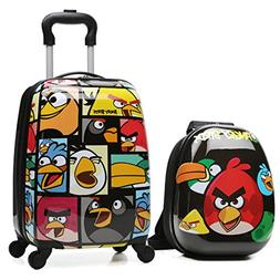 """X-tag 2 Pcs Kids Luggage Set 18"""" Carry on Suitcase and 13"""" B"""