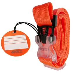 luggage strap matching tag bright colors help