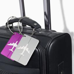 Luggage Tag Airplane Square ID Suitcase Labels Travel Access