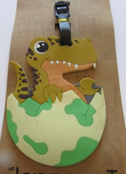Luggage Tag- BABY DINOSAUR IN EGG- hatching -use for kids &