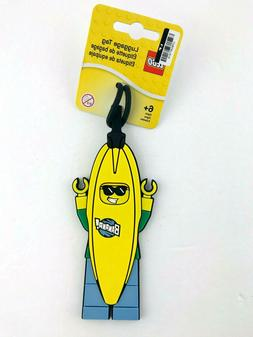 Lego Luggage Tag Banana Man Yellow Blue Green Travel Trips B