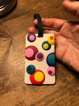 Travelon Luggage Tag - Bubbles - Circles In Raised Circles A