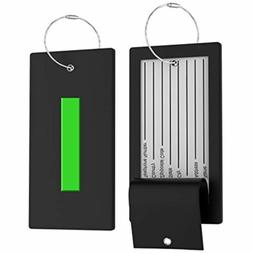 Luggage Tag Initial Bag Tag - Fully Bendable Tag w/Stainless