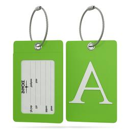 Shacke Luggage Tag Initial – Fully Bendable Tag w/Stainles