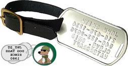 Personalized Stainless Steel Luggage Tag Embossed Leather St