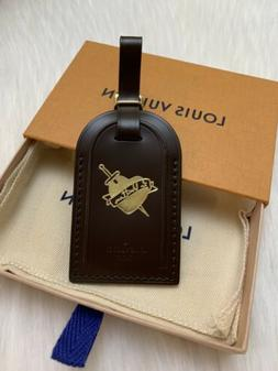 LOUIS VUITTON LUGGAGE TAG - NEW DAMIER EBENE HEART & DAGGER
