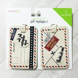 Luggage Tag Set 2 Let The Adventure Begin Air Mail See The W