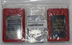 luggage tag set of 4 red