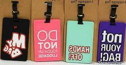 Luggage Tag Silicone Easy to Find Bright Colorful Vacation T