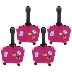 Luggage Tag Silicone Fuschia Suitcase Kids Duffel Tags Suitc