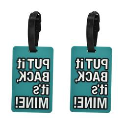 luggage tag silicone green put it back