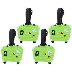 Luggage Tag Silicone Neon Green Suitcase Kids Duffel Tags Su