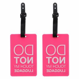 "Luggage Tag Silicone Pink ""Do Not Touch My Luggage"" Kids 2 S"
