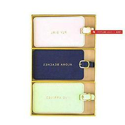 Eccolo World Traveler Luggage Tags, Box Set Of 3