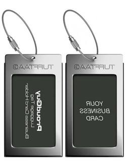 Luggage Tags Business Card Holder TUFFTAAG PAIR Travel ID Ba