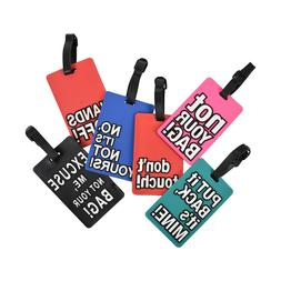 Luggage Tags for Kids Men Womens Travel Suitcase Duffel Bag