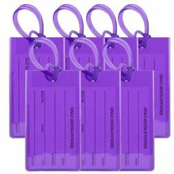 TravelMore Luggage Tags For Suitcases -Flexible Name ID Labe