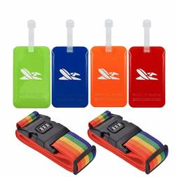 Luggage Tags Travel Id Tag With Address Card Luggage Straps