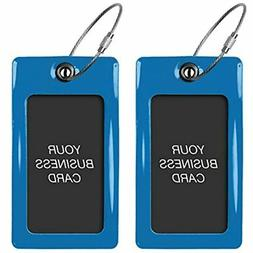 Luggage Tags TUFFTAAG, Business Card Holder, Suitcase Labels