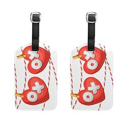 HangWang Set of 2 Luggage Tags Valentine Heart Love Suitcase