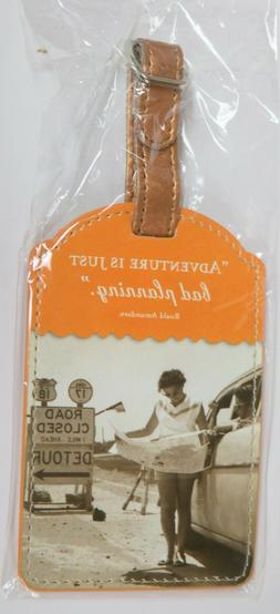 New Shannon Martin Luxe Luggage Tag Fun Retro Travel gift -