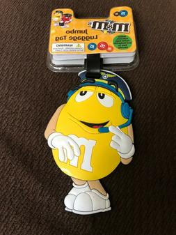 M&M's Yellow Jumbo Luggage Tag B1..Travel ..Kids..Family Tra