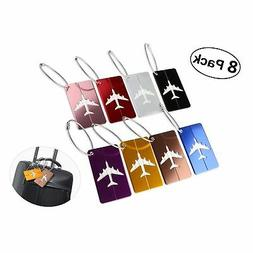 PIXNOR Metal Travel Luggage Tags Suitcase Tags with Strings