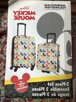 american tourister mickey mouse luggage 2-pieces