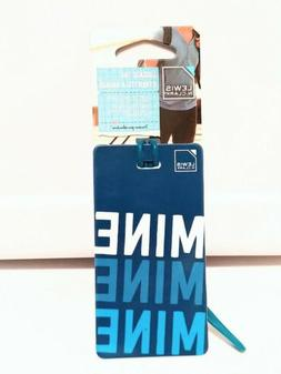 Lewis and Clark Mine Blue My Luggage Tag Suitcase Travel Add