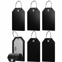 Mini Luggage Tags With Full Privacy Cover And Stainless Stee