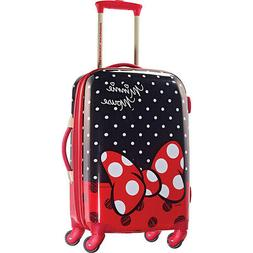 """Disney Minnie Mouse Red Bow 21"""" Hardside Spinner Suitcase by"""