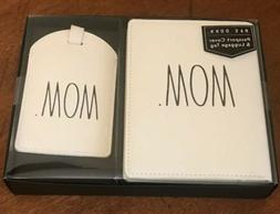 "Rae Dunn ""MOM""Passport Cover And Luggage Tag new"