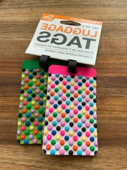 Travelon Multicolor Dots Luggage Tags