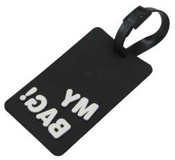 """MY BAG!"" Heavy Duty Vulcanized Rubber Large Luggage Name Ta"