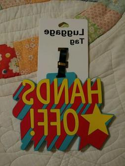 New Flexible Rubber Luggage Tag - HANDS OFF! Novelty Luggage