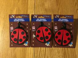 New Ladybug Lot Of 3 Luggage Tag Backpack Rubber Travel Suit