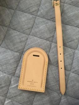 New Louis Vuitton Large Vachetta Luggage Tag Made In France