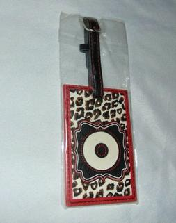 NEW Luggage Tag with Letter O Monogram Initial Measures 4.25