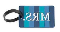 "NEW Travelon ""Mrs."" Luggage Tag in Blue"