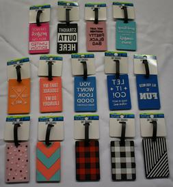 NEW PROTEGE SILICONE LUGGAGE TAG BUCKLE STRAP ID CARD
