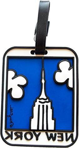 new york luggage tag empire state building
