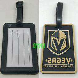 aminco NHL Vegas Golden Knights Soft Bag Tag, Black, 7.5