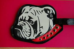 NWT Lulu Guinness Luggage Tag with Privacy Flap English Bull