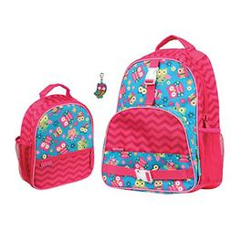 Stephen Joseph Girls Owl Print Backpack and Lunch Box with Z
