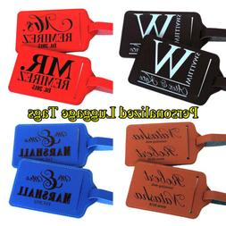 Pair  Personalized Luggage Tag Travel Accessories Custom Lug