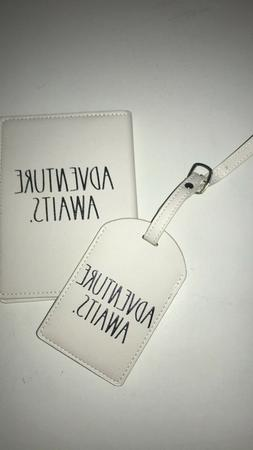 Rae Dunn Passport Cover and Luggage Tag Set Adventure Awaits