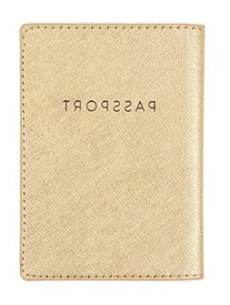 Eccolo World Traveler D916A Passport Cover, Gold Shimmer, So