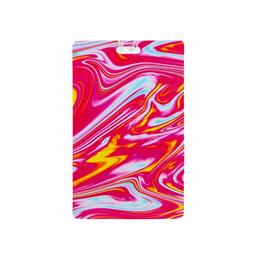 personal expression luggage tag marble swirl