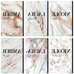 Personalised Name initials Marble Passport Holder Cover & Lu